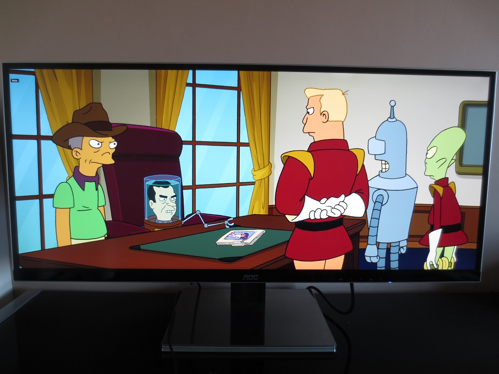 Futurama stretched to fit