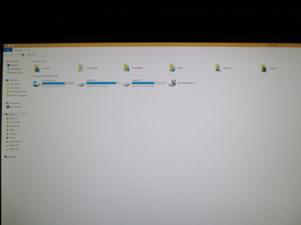 File Explorer, 125% scaling